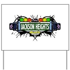 Jackson Heights Queens NYC (White) Yard Sign