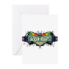 Jackson Heights Queens NYC (White) Greeting Cards