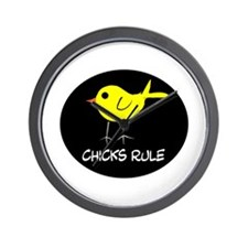 Chicks Rule Wall Clock