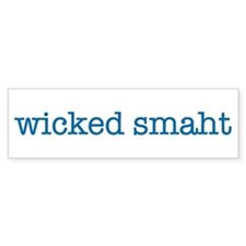 Wicked Smaht Bumper Sticker (blue)