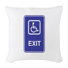 Exit.png Woven Throw Pillow
