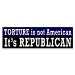 Torture is Republican Bumper Sticker