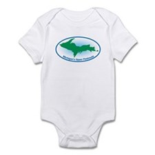 Upper Peninsula Oval Infant Bodysuit