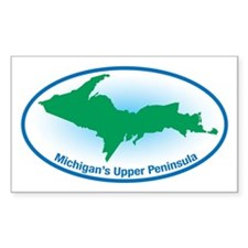 Upper Peninsula Oval Rectangle Decal