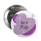 "Due In May Retro 2.25"" Button"