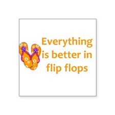 Better in Flip Flops Sticker