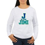 J is for Jimi Women's Long Sleeve T-Shirt