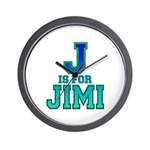 J is for Jimi Wall Clock