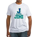 J is for Jimi Fitted T-Shirt