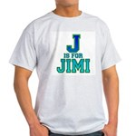J is for Jimi Ash Grey T-Shirt