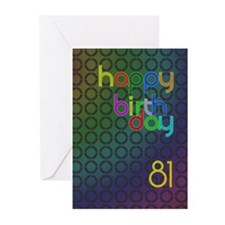 81st Birthday card for a man Greeting Cards (Pk of