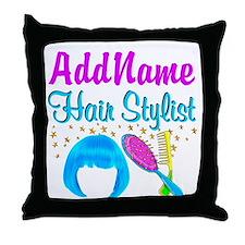 OUTRAGEOUS HAIR Throw Pillow