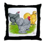 Feather-legged Bantams Throw Pillow