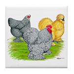 Feather-legged Bantams Tile Coaster
