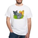 Feather-legged Bantams White T-Shirt