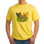 Feather-legged Bantams Yellow T-Shirt