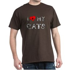 I love my cats / heart T-Shirt