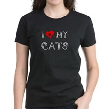 I love my cats / heart Tee