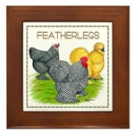 Feather-leg Trio Framed Tile