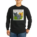 Feather-leg Trio Long Sleeve Dark T-Shirt