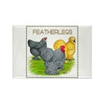 Feather-leg Trio Rectangle Magnet (10 pack)