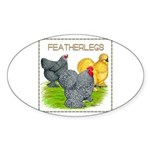 Feather-leg Trio Oval Sticker