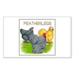 Feather-leg Trio Rectangle Sticker