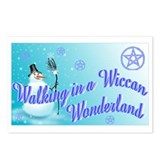 Wiccan Snowman wonderland Postcards (Package of 8)