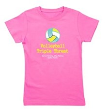 TOP Volleyball Slogan Girl's Tee