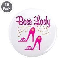 "BOSS LADY 3.5"" Button (10 pack)"