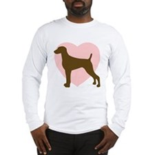 Weimaraner Heart Long Sleeve T-Shirt