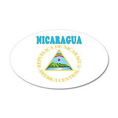 Nicaragua Coat Of Arms Designs 20x12 Oval Wall Dec