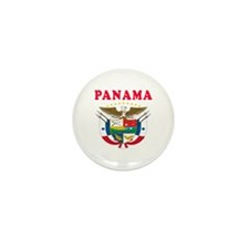 Panama Coat Of Arms Designs Mini Button (10 pack)