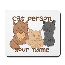 Personalized Cat Person Mousepad