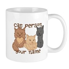Personalized Cat Person Mug