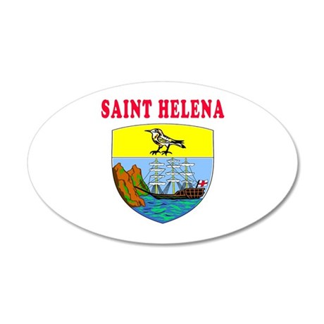 Saint Helena Coat Of Arms Designs 20x12 Oval Wall