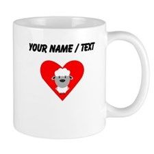 Cartoon Sheep Heart Mug