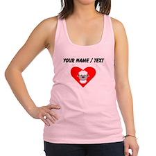 Cartoon Sheep Heart Racerback Tank Top