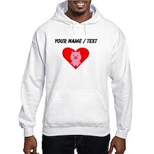 Cartoon Pig Heart Hoodie