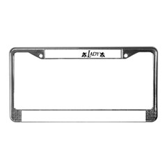 Lady License Plate Frame