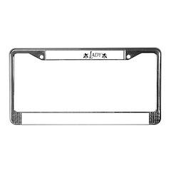 Lady License Plate Frame