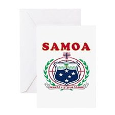 Samoa Coat Of Arms Designs Greeting Card