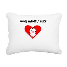 Cartoon Cow Heart Rectangular Canvas Pillow