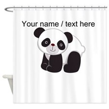 Custom Cute Panda Shower Curtain