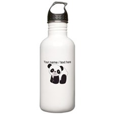 Custom Cute Panda Water Bottle
