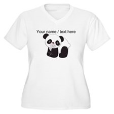 Custom Cute Panda Plus Size T-Shirt