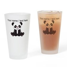 Custom Cute Panda Drinking Glass