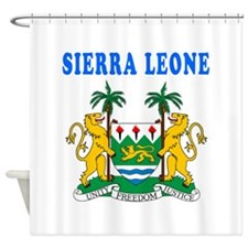Sierra Leone Coat Of Arms Designs Shower Curtain