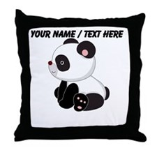 Custom Sitting Panda Throw Pillow