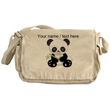 Custom Panda With Bamboo Messenger Bag